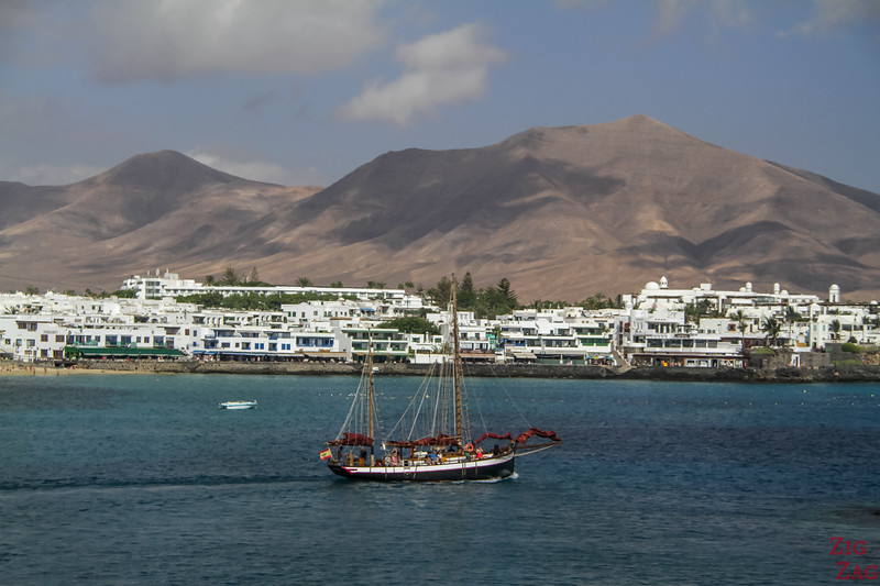 Ferry from Lanzarote to fuerteventura - view Playa Blanca