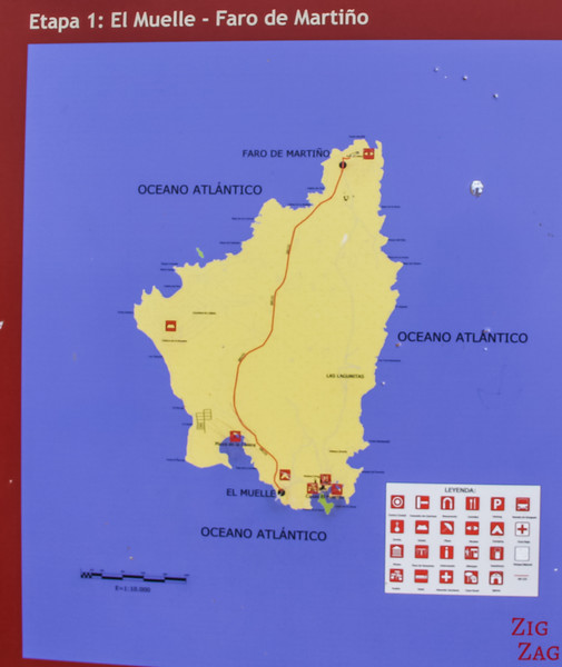 Lobos island map
