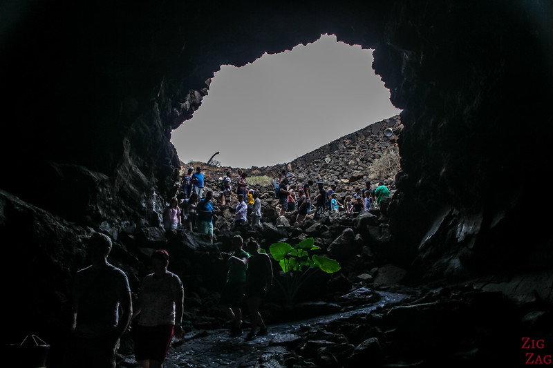 Entering the Lanzarote Caves 3