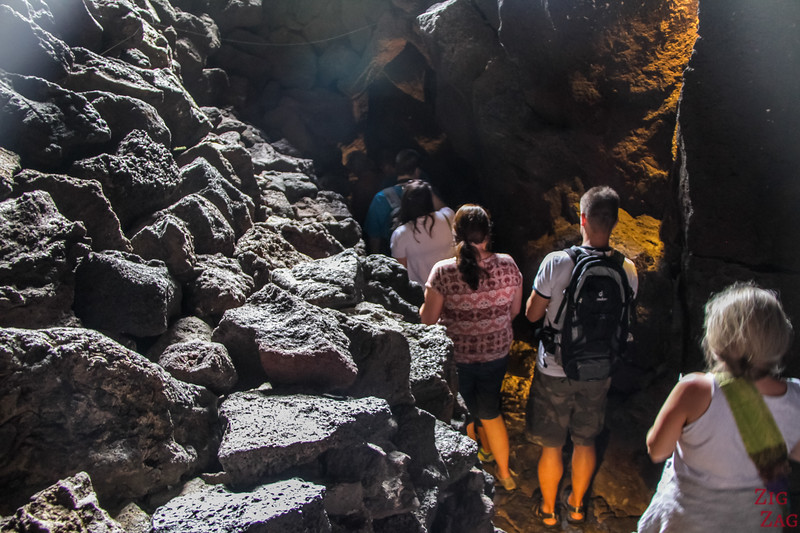 Entering the Lanzarote Caves 4