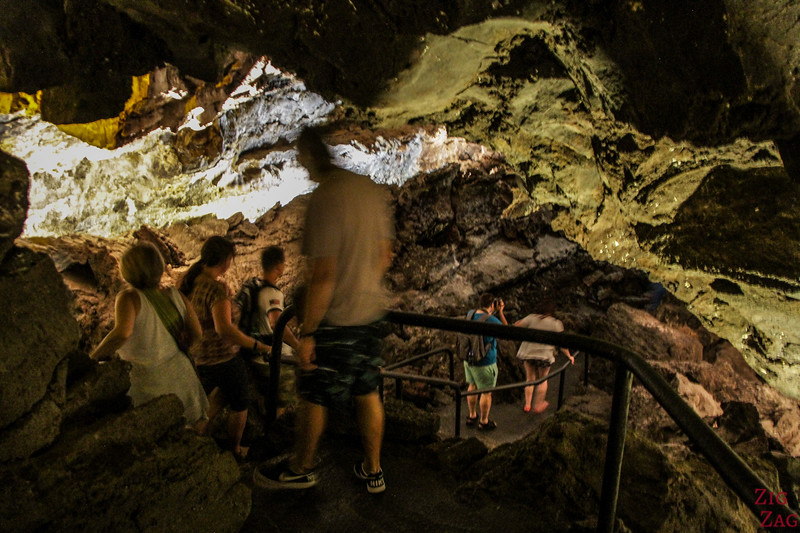Walking inside the Lava tubes in Lanzarote 1