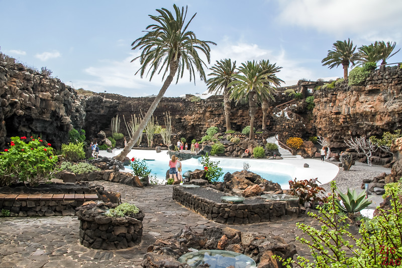 Swimming pool main cave Jameos del Agua Lanzarote