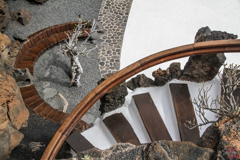 walk and stairs Jameos del Agua Lanzarote