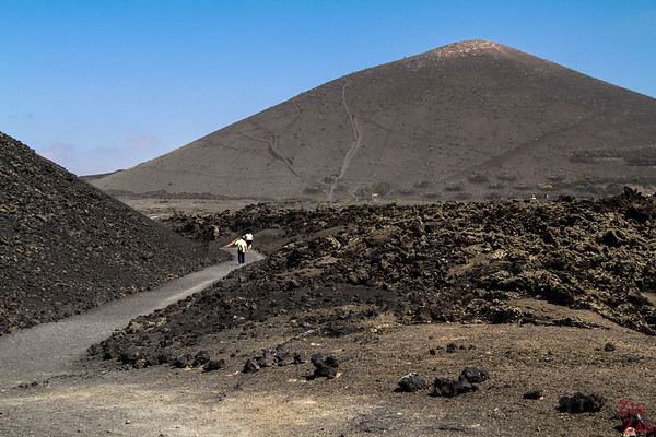 Photographing volcanoes in Lanzarote
