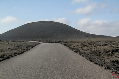 Timanfaya Nationalpark Strasse