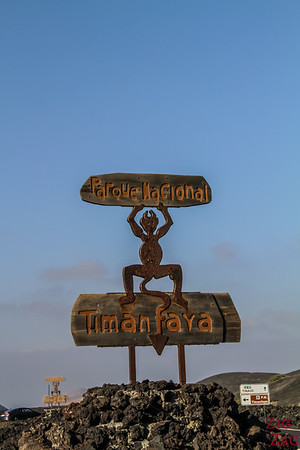 Cesar Manrique in Timanfaya Lanzarote - El Diable sign