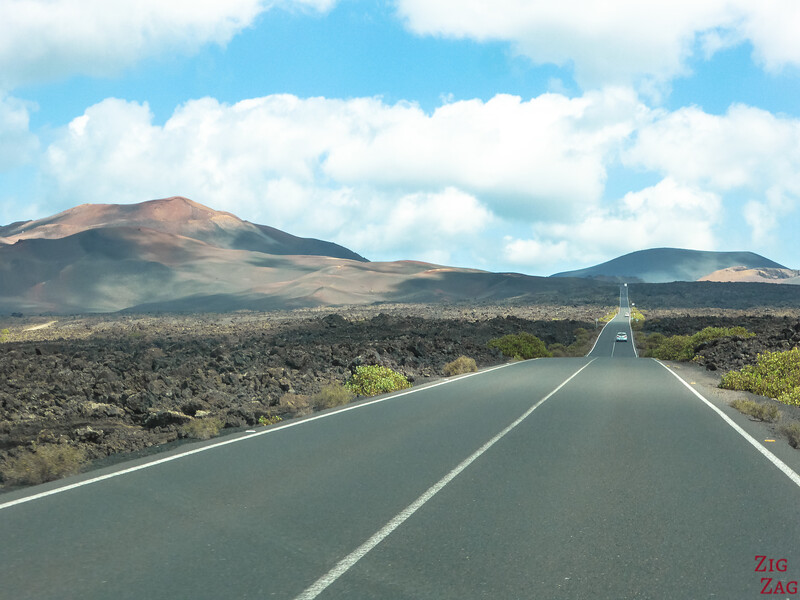 Route LZ-67 le long de TImanfaya