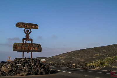 Timanfaya National Park by car - entrance sign