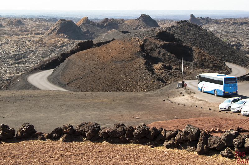 How to visit Timanfaya national Park - bus option
