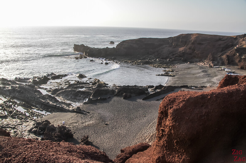 Charco de los Clicos - cove with black sand beach