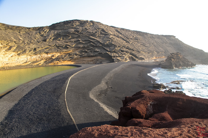 Green Lagoon Lanzarote viewpoint - Black sand beach