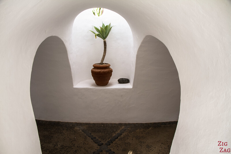 Lanzarote Points of Interest - White corridors at Lagomar