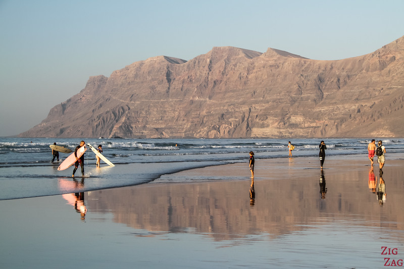 Most Scenic beaches in Lanzarote - playa de Famara Beach