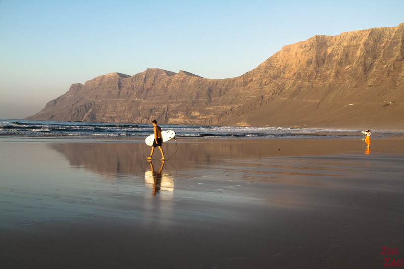 Best beach to stay in Lanzarote - Famara