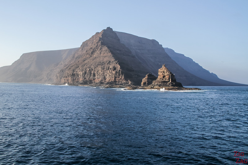 View from Ferry Lanzarote to La Graciosa