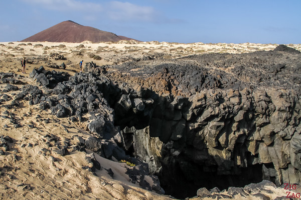 Photographing Lanzarote volcanic features