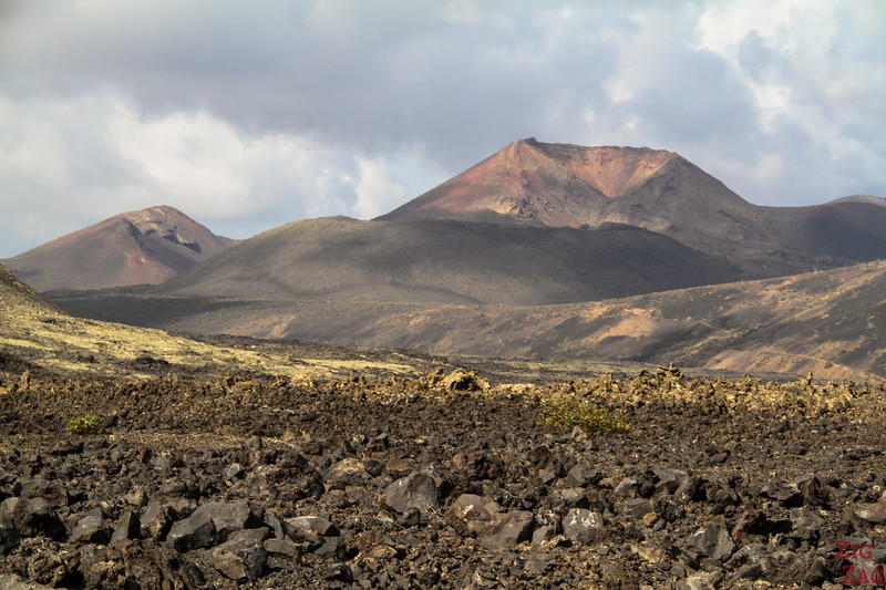 Los Volcanes Natural Park Lanzarote - View from Montana Colorada