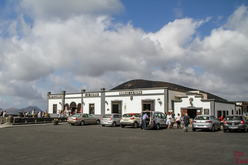 Vineyard La Geria Lanzarote winery - Main building
