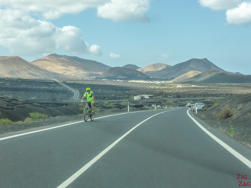 Dangers sur les routes de Lanzarote - cyclistes