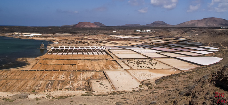 Best places in Lanzarote - colors at Janubios salt pans