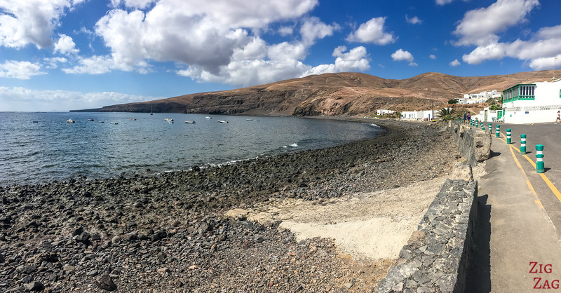 Quietest secluded beaches in Lanzarote - playa quemada beach Black sand