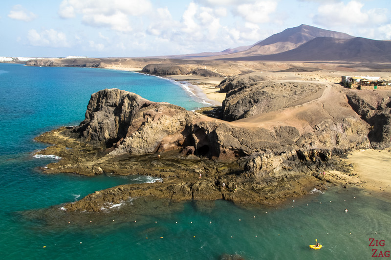 Places to visit in Lanzarote - Amazing ancient soil and colours at Papagayo beach