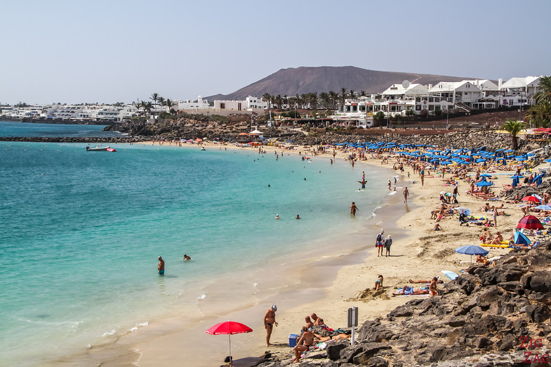 Places to visit in Lanzarote - Turquoise waters at Playa Blanca Beach