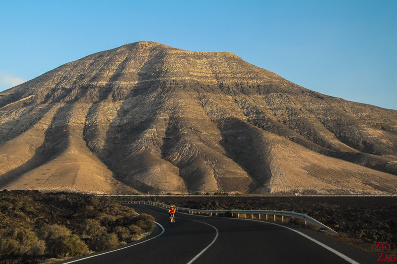 Dangers on the roads of Lanzarote - scenery