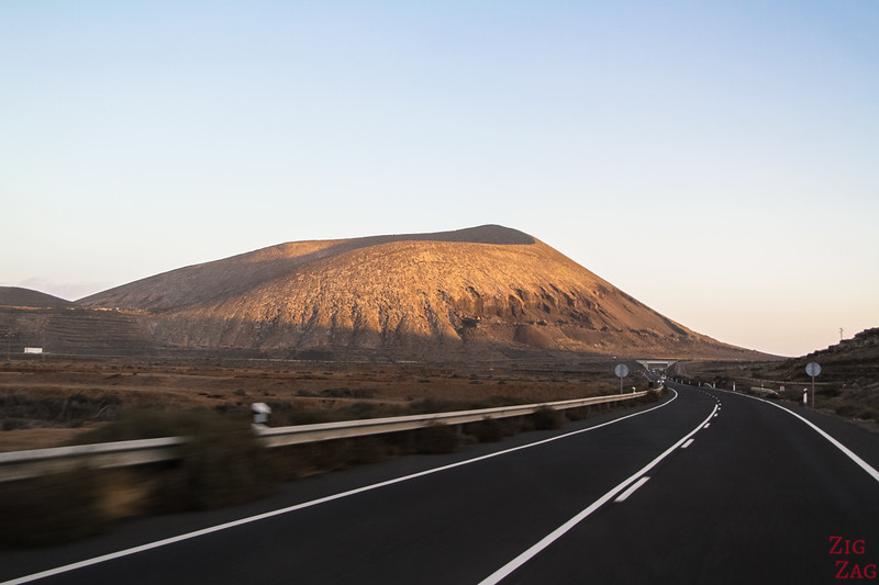 main Road conditions in Lanzarote