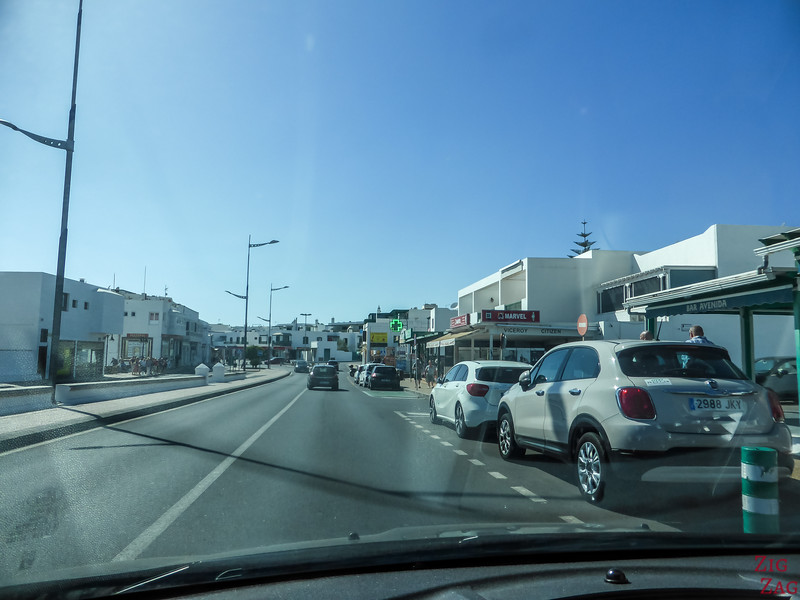 Driving in Lanzarote's towns 2