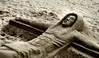 Sand sculpture, Jandia, Fuerteventura.