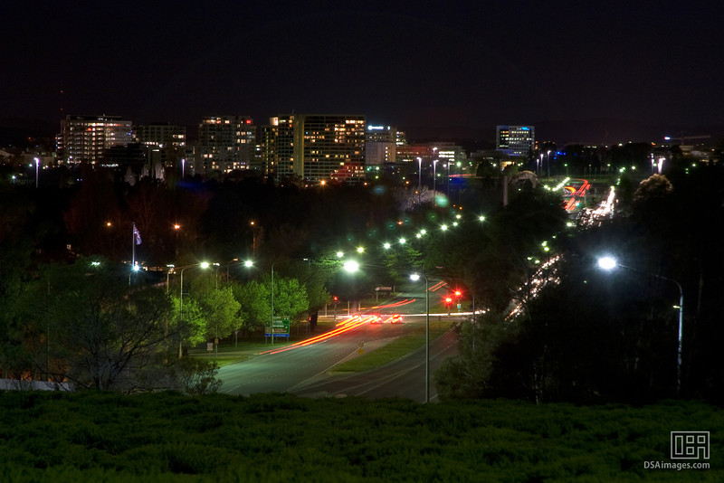 Canberra City at night