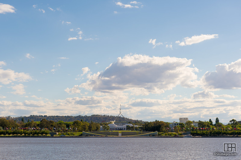 Parliament house from across the lake