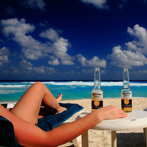 Julie unwittingly becomes the subject of my Corona ad. Sorry Julie, no royalties.