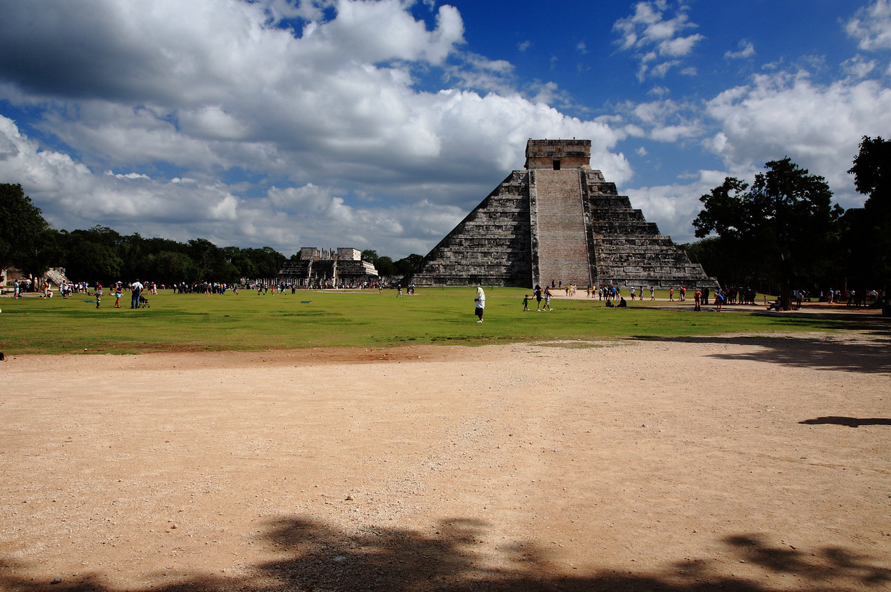 Pyramid of Kukulcan at Chichén Itzá. 1,500 years old and 100 feet tall.