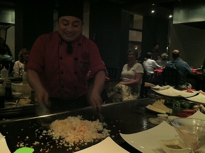 Dinner Benihana-style at Mikado.
