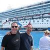De camino a bucear a Cozumel.  El crucero esta para la postal!