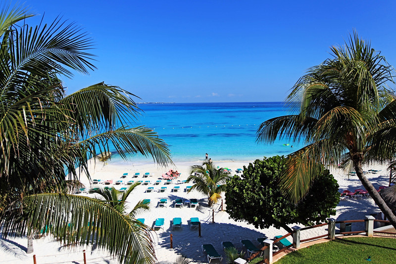 View from our room at Fiesta Americana Grand Coral Beach, Cancun.