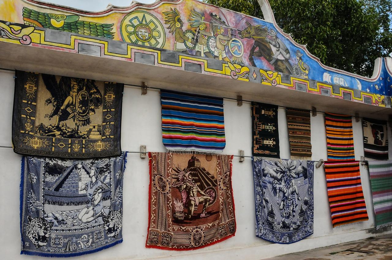 Mayan shop outside of Chichén Itzá, Yucatán, Mexico - November 2011