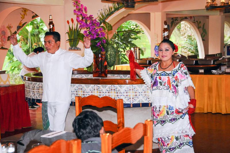 Mayan entertainment at a local restaurant outside of Chichén Itzá, Yucatán, Mexico - November 2011