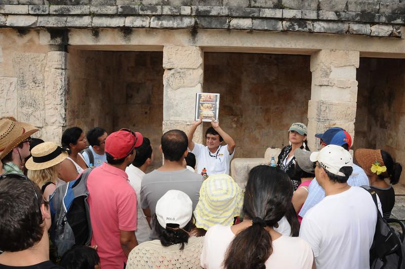Mayan tour guide, Chichén Itzá, Yucatán, Mexico - November 2011