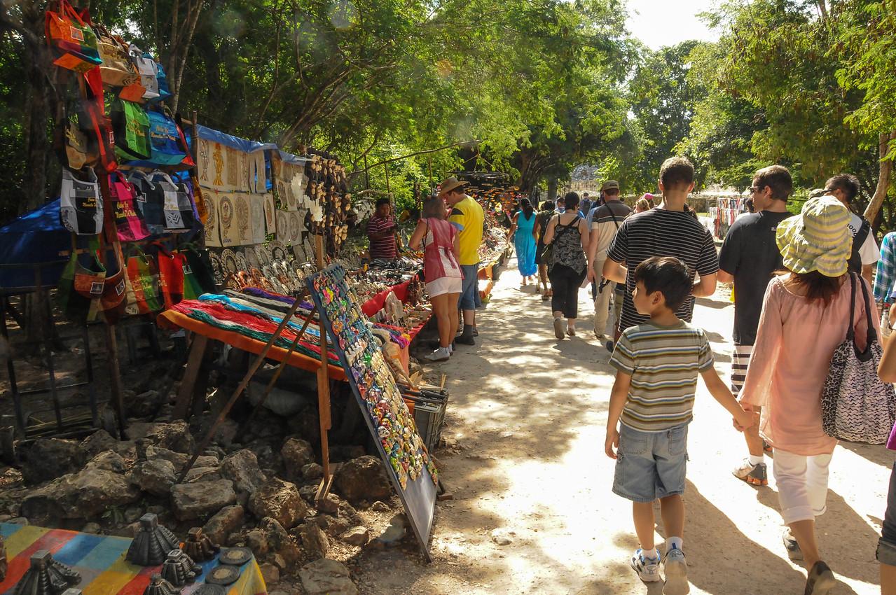 Entrance area to Chichén Itzá, Yucatán, Mexico - November 2011