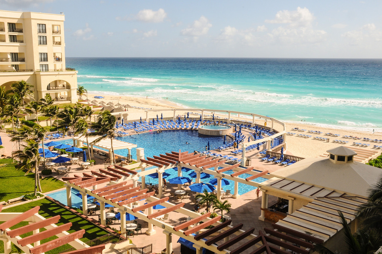 View from my room at the Marriott CasaMagna Resort in Cancun, November 2011