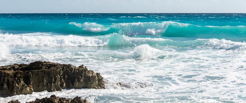 Views along the beach in Cancun, Mexico - December 2015