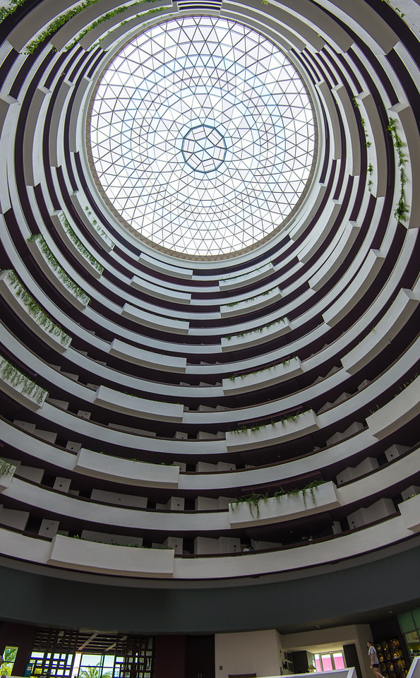 View looking up from lobby of  Krystal Grand Resort, Cancun, Mexico - December 2015