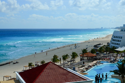 Beach View South from The Royal Cancun