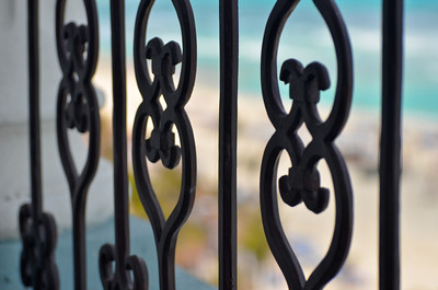 Ornamental Iron on the Balcony, The Royal Cancun