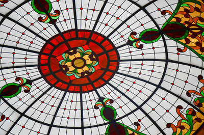Stained Glass Ceiling at The Royal Cancun