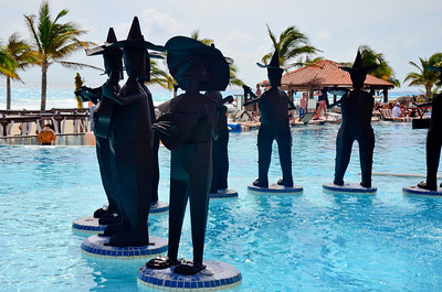 Musician Sculptures at The Royal Cancun