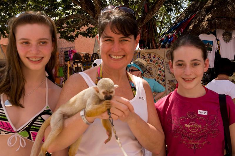 Emily, Monkey, Jodi, May.